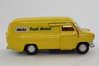 Dinky Toys 407; Ford Transit; Yellow, Hertz