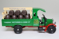 Corgi Classics C867; Thornycroft Beer Lorry; Thomas Wethered. Green/Red Barrel Load