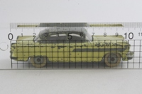 Dinky Toys 174; Hudson Hornet; Yellow, Dark Grey Roof & Flash, Grey Hubs