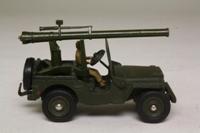 Dinky Toys 829; Military Jeep Avec Canon de 106 SR; Olive Drab