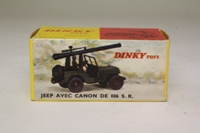Dinky Toys 829; Military Jeep Avec Canon de 106 SR; Olive Drab