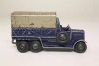 Dinky Toys 25s; Six-Wheeled Truck; Dark Blue, Grey Tilt