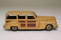 Dinky Toys 27f; Plymouth Estate Car; Fawn, Brown Panels