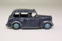 Dinky Toys 254; Austin Taxi Cab; Dark Blue, Black Chassis & Interior, Blue Hubs