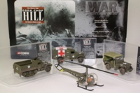 Corgi Classics CS90023; Pork Chop Hill 4 Pce Set; Sioux Helicopter, Jeep, Ambulance, M3 Half Track