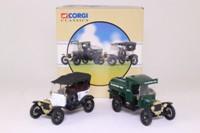 Corgi Classics 97049; Yellowstone National Park Service 2 Pce Set; Model T Tanker & Tourer