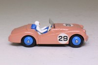 Atlas Dinky Toys 111; Triumph TR2, Competition Finish; Salmon Pink, Blue Interior & Hubs