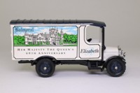 Corgi Classics 97155; 1929 Thornycroft Van; Balmoral, The Queen's 40th Anniversary