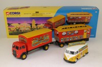 Corgi Classics 31702; Saddler's Famous Funfair Set; ERF Box Van, Showman's Caravan & VW Van