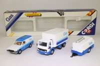 Corgi C3; British Gas 3 Piece Set; Ford Cargo, Escort Van & Compressor