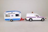 Corgi Classics C13; Ford Escort Van & Caravan Set; RAC Service, Information Centre