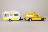 Corgi Classics C14; Ford Escort Van & Caravan Set; AA Service, Information Centre