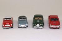 Corgi Classics D53/1; Four Rally Cars Set; Jaguar Mk II, Ford Cortina Lotus; Austin Healey 3000; MGA Hood Up.