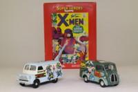 Corgi Classics 98970; X Men 2 Van Set; Morris J & Bedford CA Vans