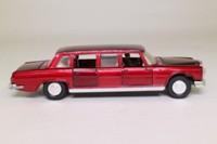 Dinky Toys 128; Mercedes-Benz 600; Metallic Maroon, White Seats, Three Figures, Spot-On Wheels