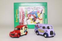 Corgi Classics 98972; The Amazing Spiderman 2 Van Set; Morris J & Morris Minor Vans