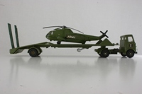 Dinky Toys 618; AEC Artic Transporter and Helicopter; Olive Drab