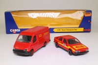 Corgi Classics C28; Team Datapost 2 Pce Set; Ford Transit Van & Saab 9000