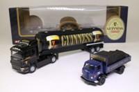 Corgi Classics 59564; Guinness Past & Present Set; Scania Tanker & Karrier Dropside with Load