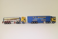 Corgi Classics CC99165; D.R. MacLeod of Stornoway Set; Scania Topline & DAF 95 Units, Fridge Trailer & Clayton General Purpose Tanker