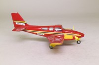 Dinky Toys 715; Beechcraft C55 Baron; Red, Yellow Detail