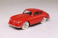 Atlas Dinky Toys 182; Porsche 356a; Red, Spun Hubs