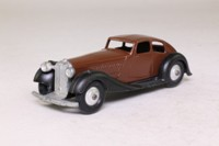 Dinky Toys 36d; Rover Streamlined Saloon; Brown, Black Chassis