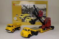 Corgi Classics 31008; Wimpey Building Britain 3 Pce Set; Bedford S Low Loader, Luffing Shovel & Ford Thames Trader Tipper