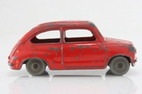 Dinky Toys 183; Fiat 600; Red, Grey Plastic Wheels