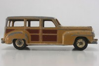 Dinky Toys 344; Plymouth Estate Car; Fawn & Brown, Fawn Hubs