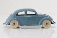 Dinky Toys 181/262; Volkswagen Beetle; Blue/Grey, Spun Hubs