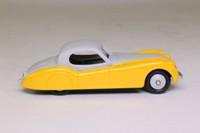 Atlas Dinky Toys 157; Jaguar XK120; Grey Over Yellow