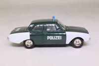Dinky Toys 551; Ford Taunus 17M Badewanne; Polizei, German Police