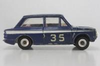 Dinky Toys 214; Hillman Imp; Rally; Blue, White Side Stripe, RN35
