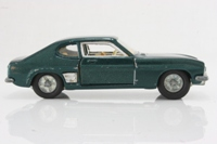 Dinky Toys 165/213; Ford Capri; Metallic Blue/Green, Cast Wheels