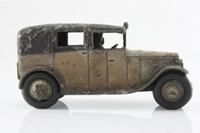 Dinky Toys 36g; Taxi With Driver; Brown, Black Roof, Closed Rear Window