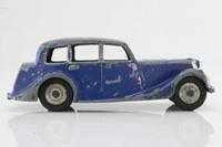 Dinky Toys 40b; Triumph 1800; Blue, Fawn Hubs