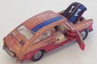 Dinky Toys 163; Volkswagen 1600TL Fastback; Dark Metallic Red