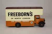 Corgi Classics 97086; Bedford O Series Pantechnicon; Freeborns; Brown / Cream