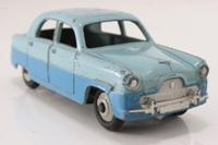 Dinky Toys 162; Ford Zephyr; Light Blue Over Mid Blue, Grey Painted Hubs