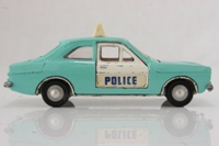 Dinky Toys 270; Ford Escort Saloon Mk1; Police, Cast Hubs