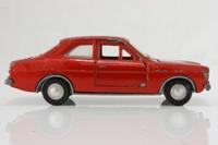 Dinky Toys 168; Ford Escort Saloon Mk1; Metallic Red, Cast Wheels