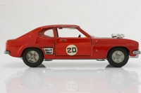 Dinky Toys 213; Ford Capri Rally; Bronze Metallic, Black Bonnet, Cast Hubs