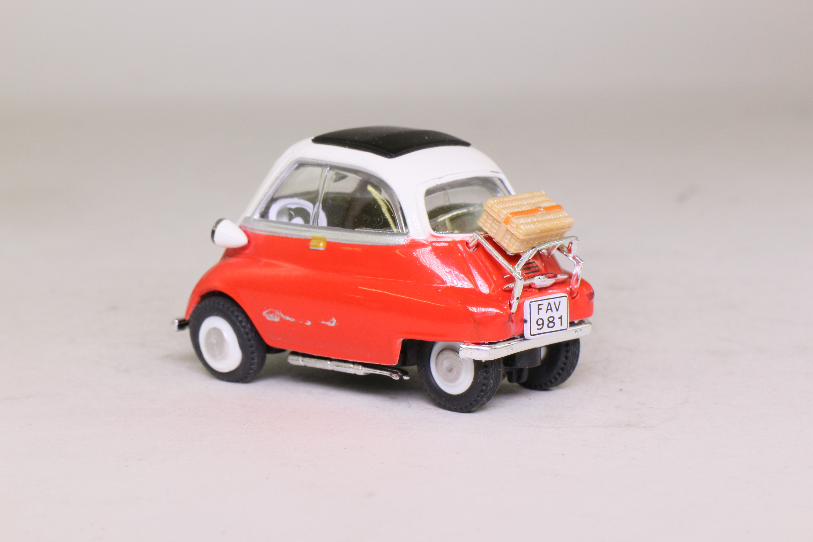 Cararama Bmw Isetta Bubble Car Red Off White Excellent Boxed