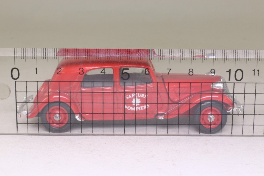 solido  citroen 15cv traction avant  pompiers  fire command  excellent boxed