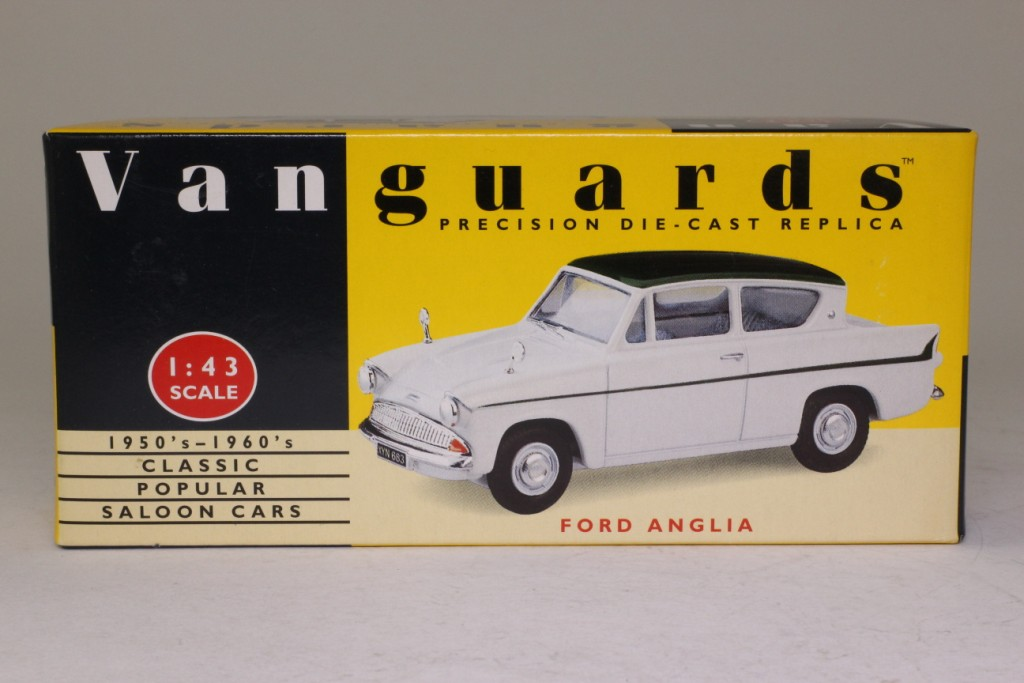 Vanguards VA1014; Ford Anglia 105E; White and Green 60828