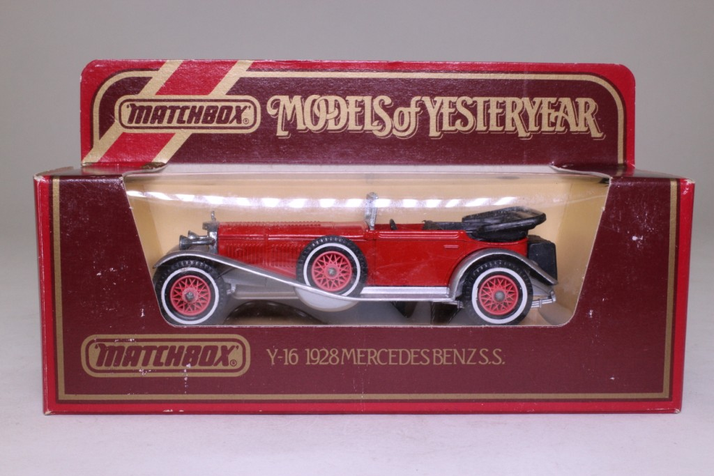 Mercedes Benz Models >> Models of Yesteryear Y-16/2; 1928 Mercedes-Benz SS; Red, Silver Chassis 61837