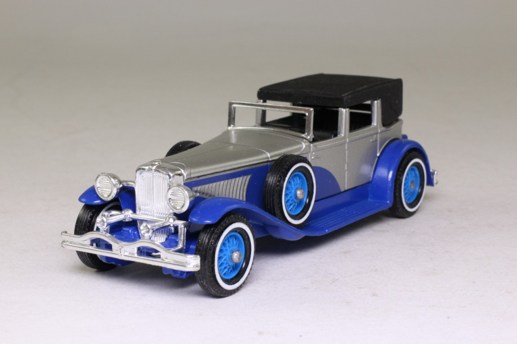 models of yesteryear y44 duesenberg j silver amp blue