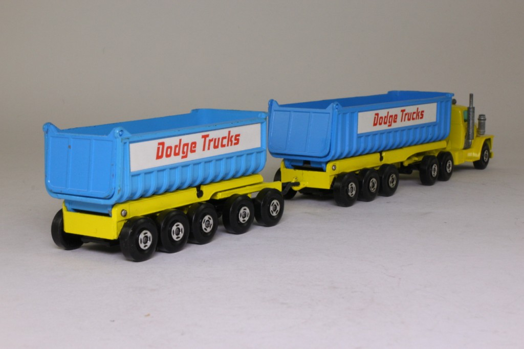 Dodge Truck 2018 >> Matchbox SuperKings K-16/1; Dodge Truck with Twin Tippers; Yellow, Blue, Superfast 66829