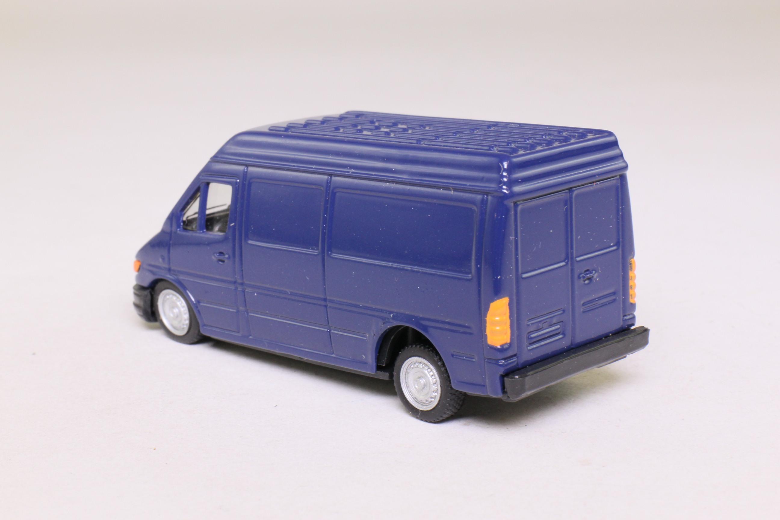 cararama 1 72 scale ford transit van blue excellent. Black Bedroom Furniture Sets. Home Design Ideas